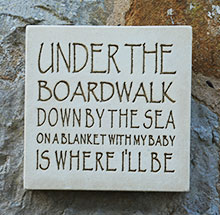 Wall Plaque Under the Boardwalk...
