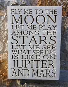 Wall Plaque Fly Me To the Moon...