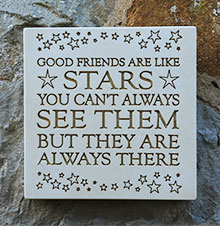 Wall Plaque Good Friends Are Like Stars...