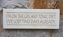 Wall Plaque Im On The Gin And Tonic Diet....