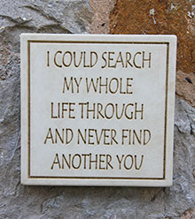 Message of Love Plaque I Could Search...