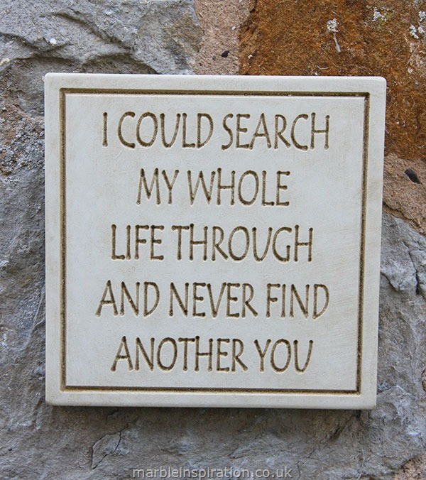 Message of Love Plaque 'I Could Search...'