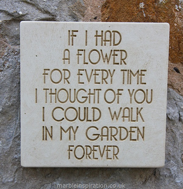 Message of Love Plaque 'If I Had A Flower...'