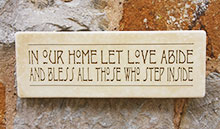 Wall Sign In Our Home Let Love Abide...