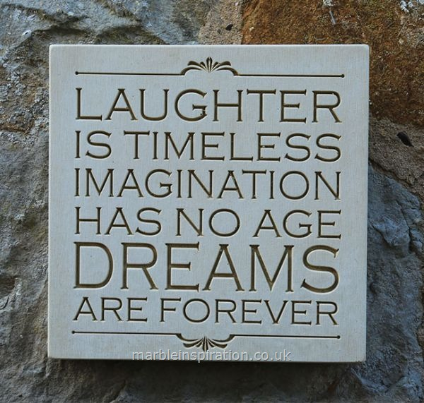 Wall Sign 'Laughter Is Timeless...'