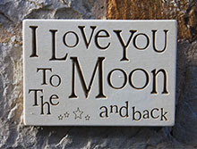 Wall Plaque I Love You To the Moon...