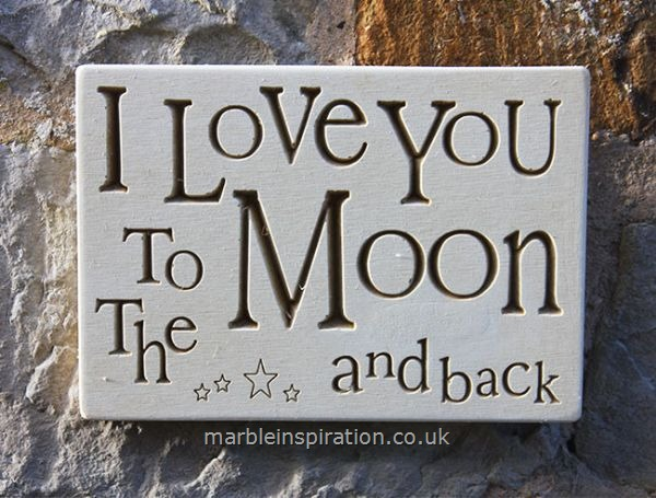 Wall Plaque 'I Love You To the Moon...'
