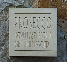 Wall Sign Prosecco...