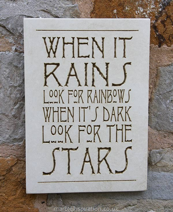 Wall Sign 'When It Rains Look For Rainbows...'