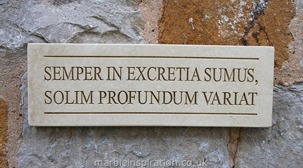 Wall Plaque 'Semper In Excretia...'
