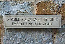 Wall Plaque A Smile is a Curve....
