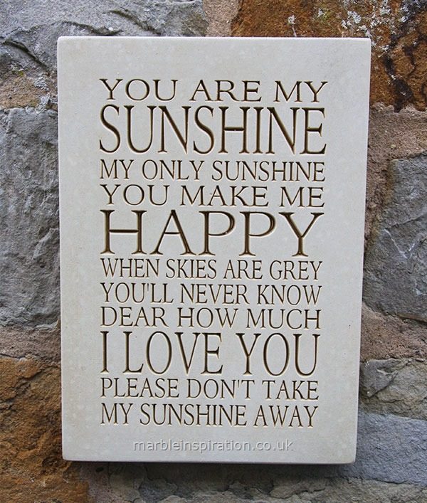 Wall Sign You Are My Sunshine..