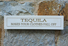 Wall Plaque Tequila Makes Your Clothes Fall Off