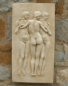 Garden Wall Plaque Three Graces