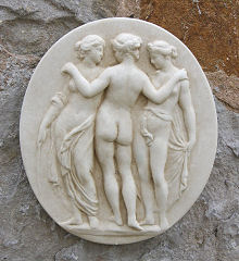 Oval Wall Plaque The Three Graces