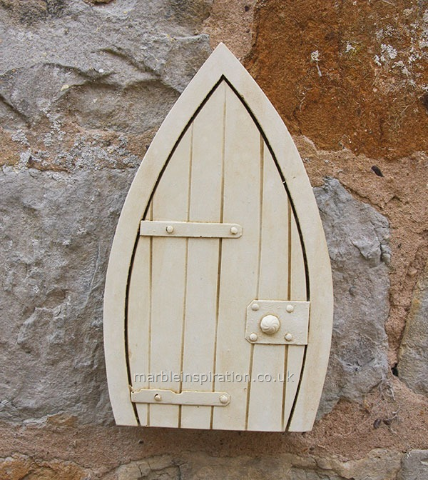 Fairy door garden wall ornament garden wall plaques find for Original fairy door