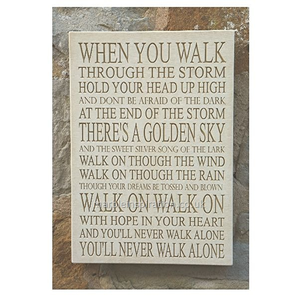 Garden Wall Plaques : Written Word Marble Plaques : Wall Plaque 'Walk On'