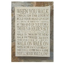 Wall Plaque Walk On