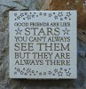 Wall Plaque 'Good Friends Are Like Stars...'